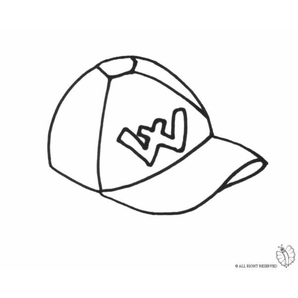 Disegno di Cappellino da colorare