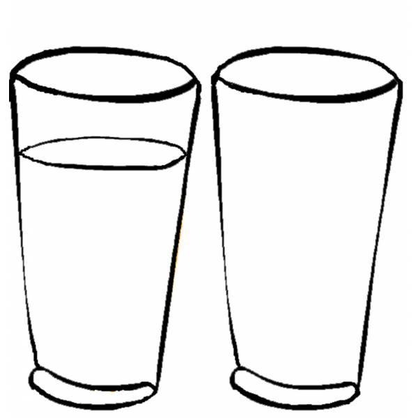 Disegno di bicchieri da colorare per bambini for Piatti e bicchieri per feste bambini