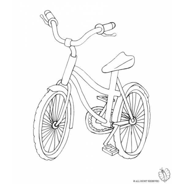 disegno di bici da colorare per bambini