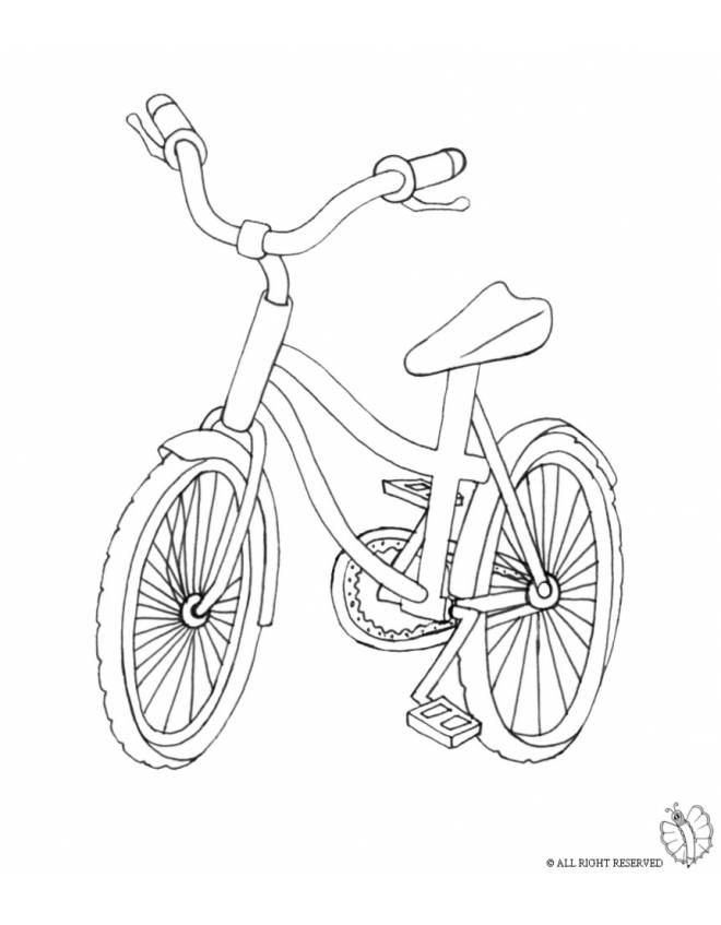 disegno di Bici  da colorare