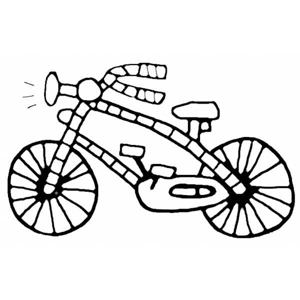 Disegno di Bicicletta da colorare