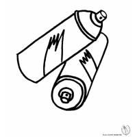 Disegno di Bombolette Spray da colorare