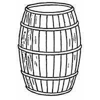 Disegno di Botte di Vino da colorare