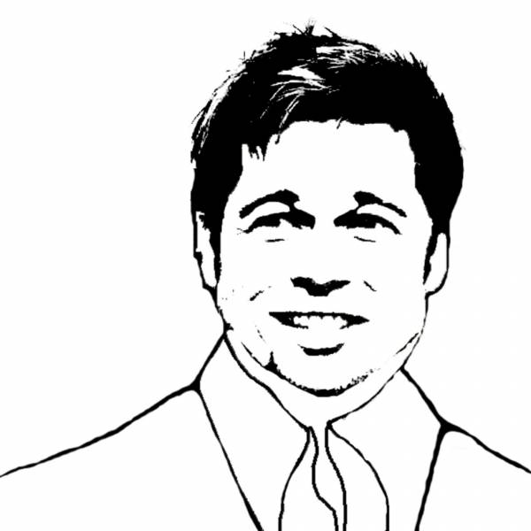 Disegno di Brad Pitt da colorare