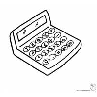 disegno di Calcolatrice da colorare
