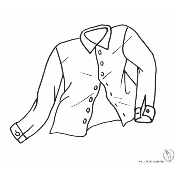 Disegno di Camicia da colorare