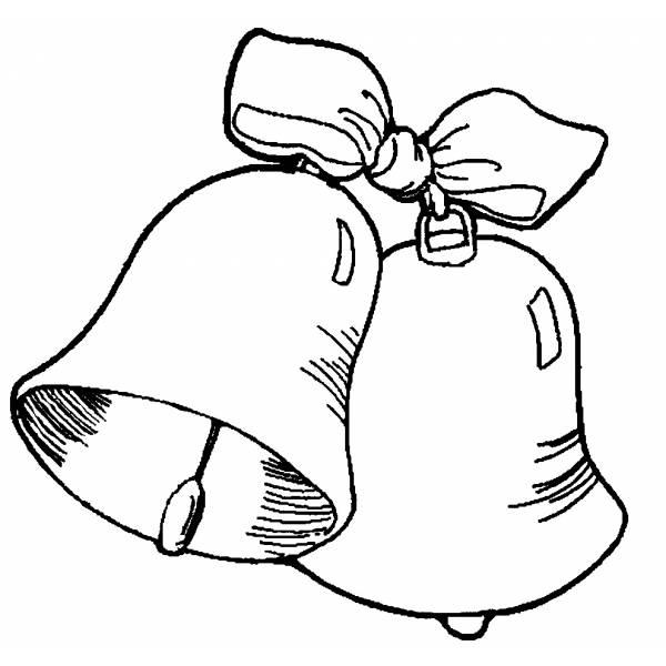 Disegno Di Campane Con Fiocco Da Colorare Per Bambini