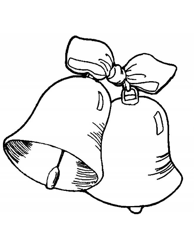Stampa disegno di campane con fiocco da colorare for Come disegnare le planimetrie online