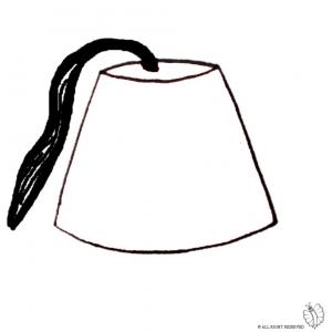 Disegno di cappello turco da colorare per bambini gratis for Cappello disegno da colorare