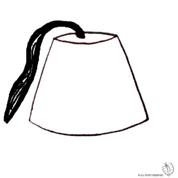 Disegno di Cappello Turco da colorare