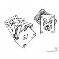 Disegno di Poker da colorare