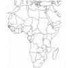 Disegno di Cartina Africa da colorare