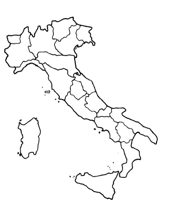 Cartina Geografica Europa Da Stampare.Disegno Di Cartina Italia Da Colorare Per Bambini Disegnidacolorareonline Com