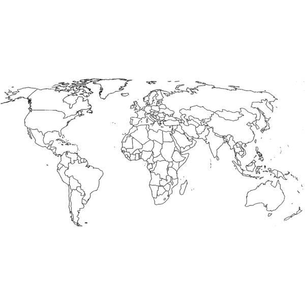 Cartina Del Planisfero Muta.Disegno Di Cartina Politica Mondo Da Colorare Per Bambini Disegnidacolorareonline Com