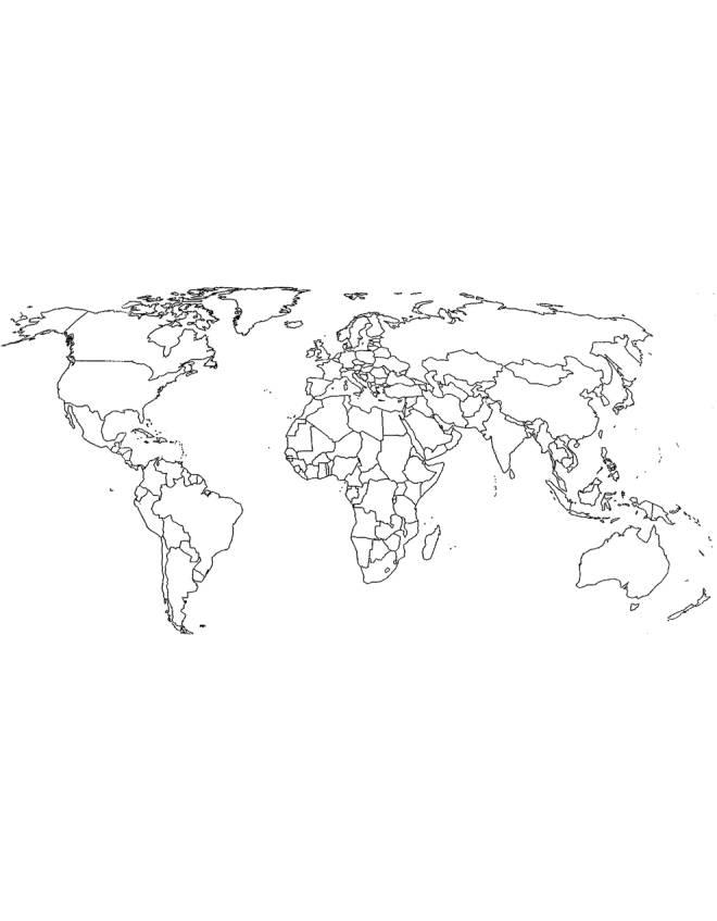 Cartina Delle Religioni Nel Mondo Da Colorare.Disegno Di Cartina Politica Mondo Da Colorare Per Bambini Disegnidacolorareonline Com
