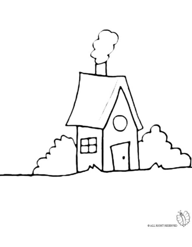 Disegno di casa nel bosco da colorare per bambini - Disegni di casa da colorare per bambini ...