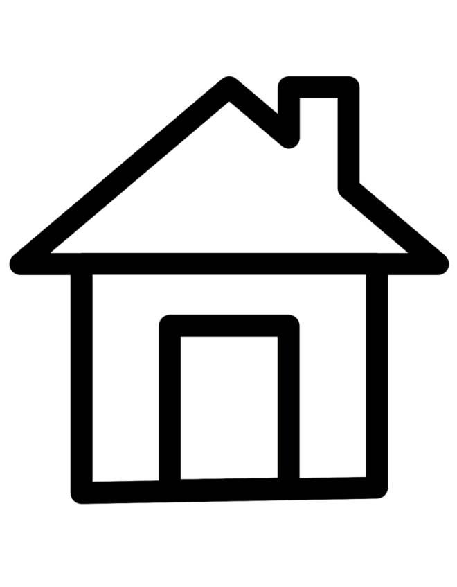 Stampa disegno di casa da colorare for Disegni di casa alta