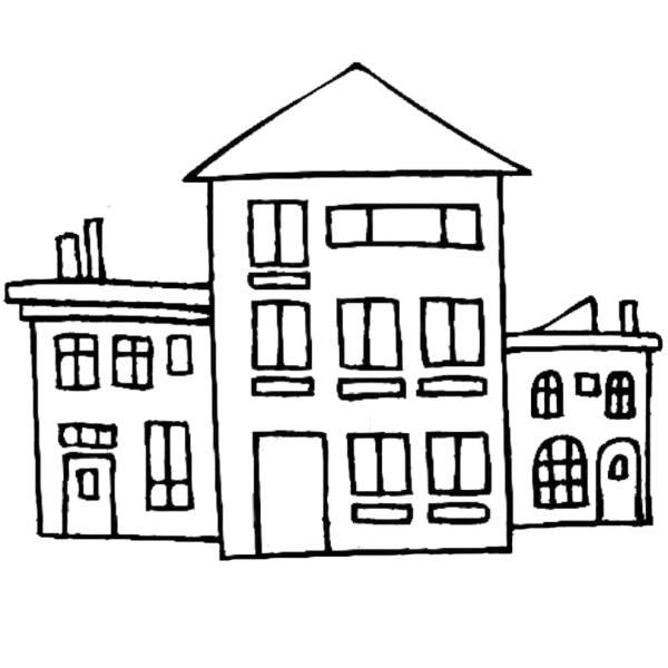 Disegno di Case da colorare
