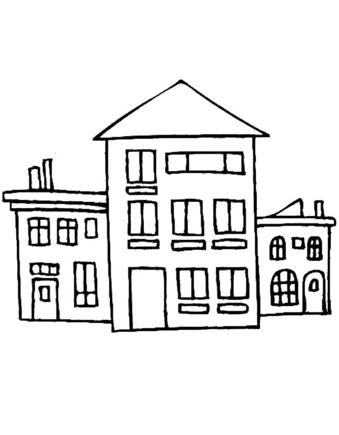 Disegno di case da colorare per bambini for Immagini di case