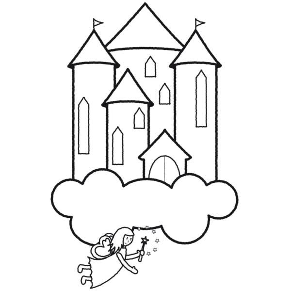 Disegno Di Castello Delle Fate Da Colorare Per Bambini