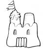 disegno di Castello di Sabbia da colorare