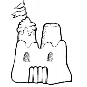 Disegno di castello di sabbia da colorare per bambini - Immagini di spongebob e sabbia ...