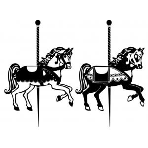 Disegno di Cavalli sulla Giostra da colorare