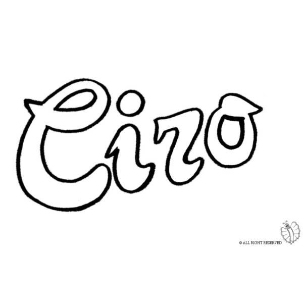 Disegno di Ciro da colorare