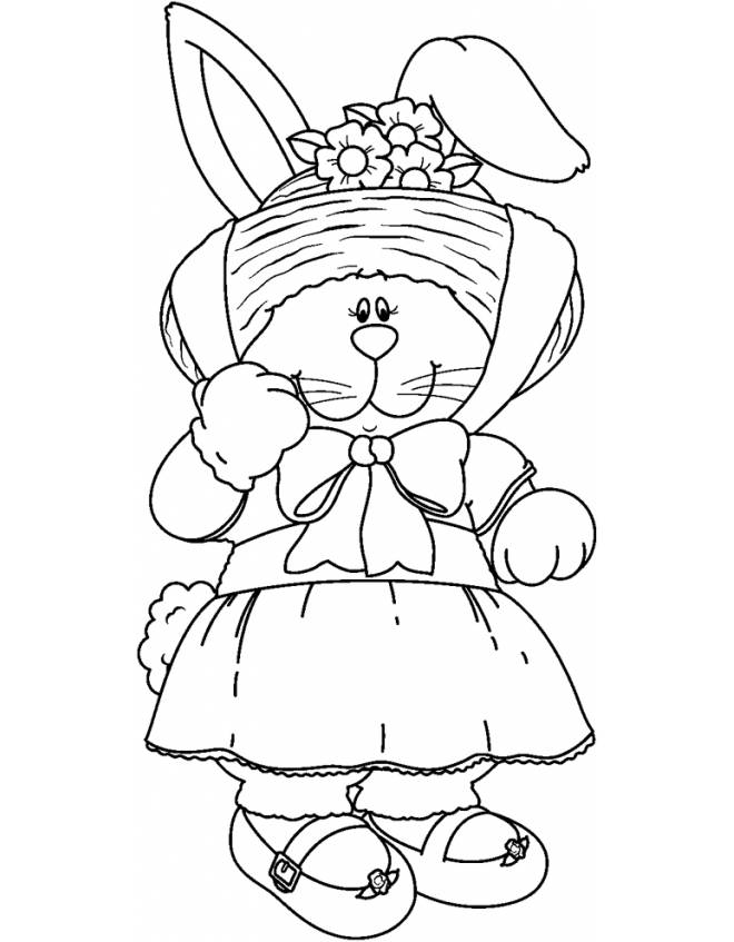 disegno di Coniglietta da colorare