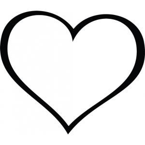 Disegno di cuore gigante da colorare per bambini gratis for Disegni di cuori da stampare gratis
