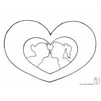 Disegno di Cuore San Valentino da colorare