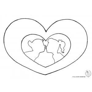 Disegno di cuore san valentino da colorare per bambini for Disegni da colorare dei cuori