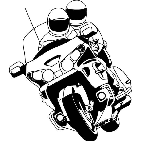 Disegno di Motociclisti da colorare