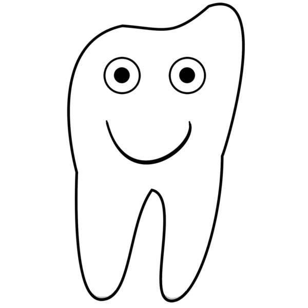 Disegno di dentino da colorare per bambini - Immagini dei denti da colorare ...