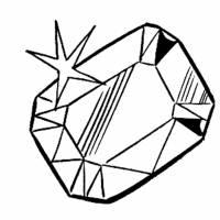 Disegno di Diamante da colorare