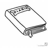 Disegno di Diario da colorare