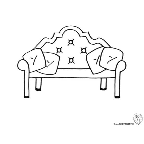 Disegno di divano antico da colorare per bambini for Disegni di mobili aspen