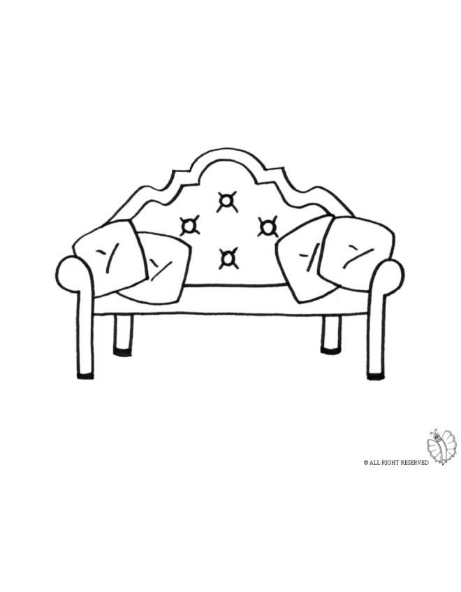 Disegno di divano antico da colorare per bambini - Cuscini divano on line ...
