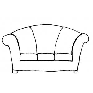 Disegno di divano da colorare per bambini gratis - Colorare i mobili ...