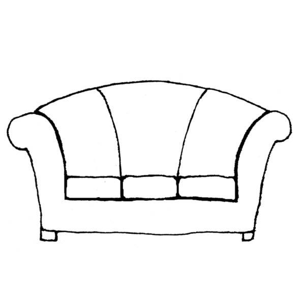 Disegno di divano da colorare per bambini for Divano letto per bambini