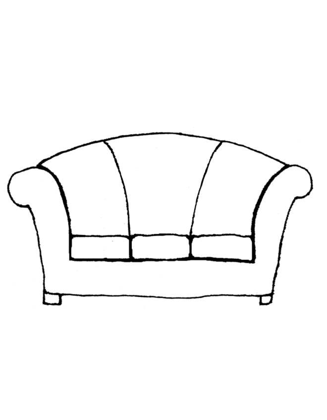 Stampa disegno di divano da colorare for Divano disegno