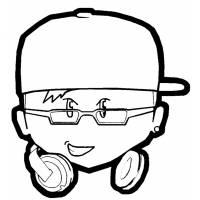 Disegno di Il DJ da colorare
