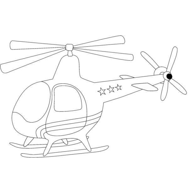 Disegno Di Piccolo Elicottero Da Colorare Per Bambini