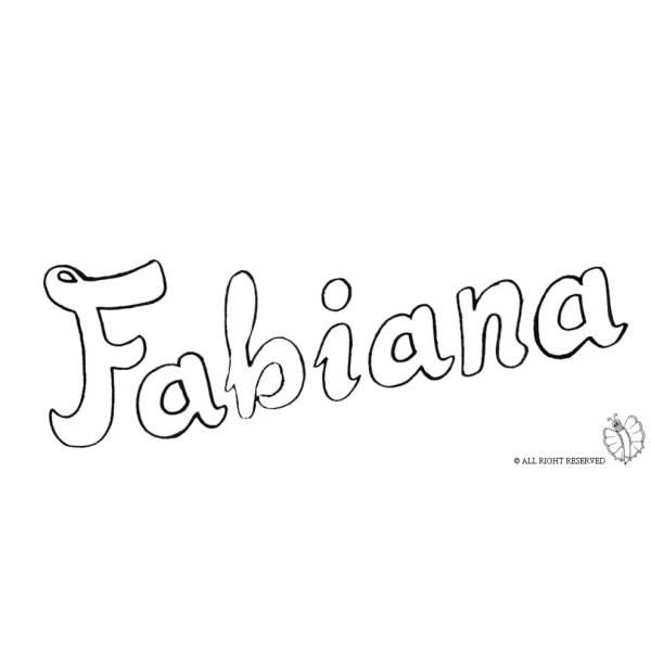 Disegno di Fabiana da colorare