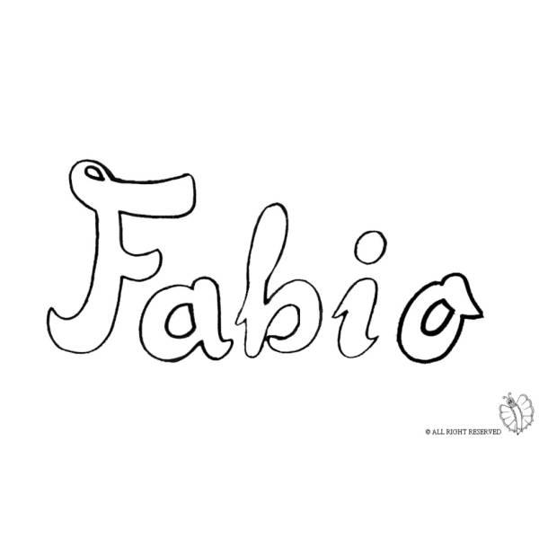 Disegno di Fabio da colorare
