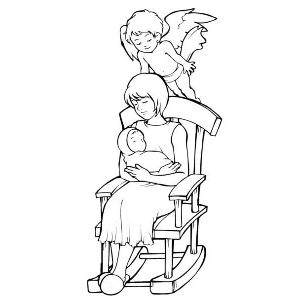 Disegno Di Angelo Custode Da Colorare Per Bambini