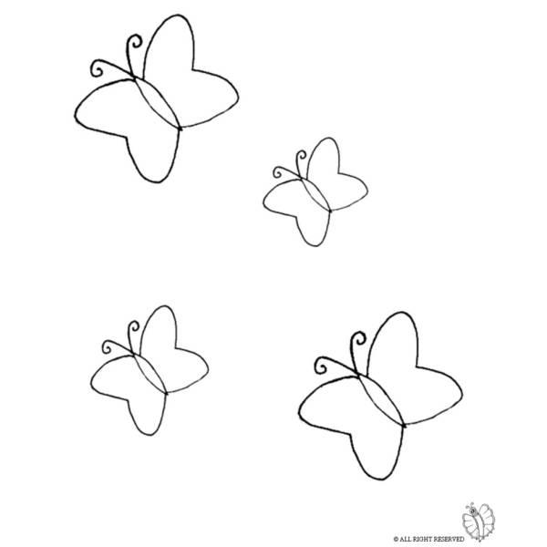Disegno Di Farfalle Da Colorare Per Bambini