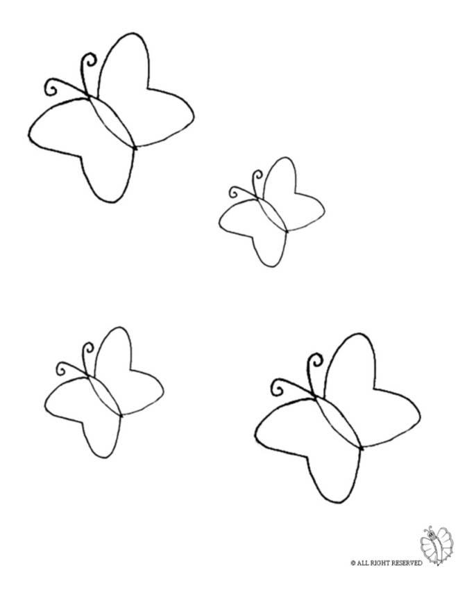 Disegno di farfalle da colorare per bambini for Immagini farfalle da ritagliare