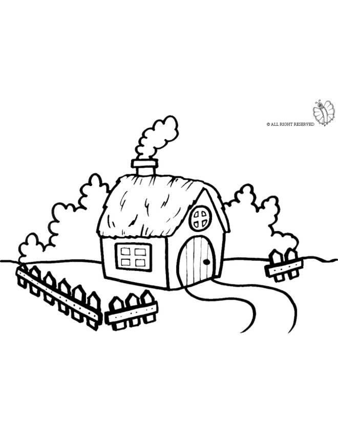 Disegno di fattoria da colorare per bambini for Fattoria immagini da colorare