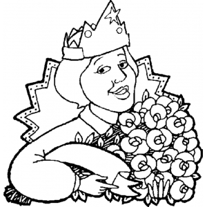 Disegno di Festa della Donna da colorare